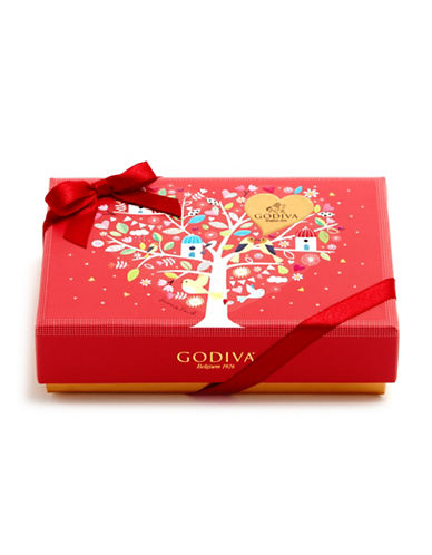 Godiva Six-Piece Rectangular Gift Box-RED-One Size