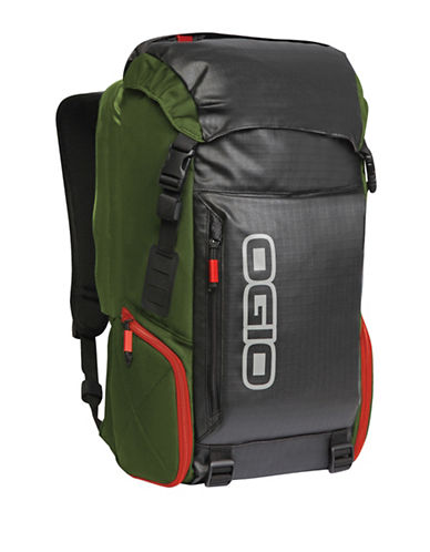 Ogio Water-Resistant Throttle Backpack-GREEN-One Size