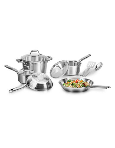 T-Fal Elegance 10-Piece Stainless Steel Set-STAINLESS STEEL-One Size