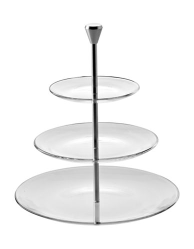 Luigi Bormioli Michelangelo Masterpiece Three-Tier Server-CLEAR-One Size