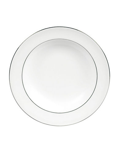 Vera Wang Vera Wang Blanc sur Blanc Dinnerware Collection Rim Soup Bowl-WHITE-One Size