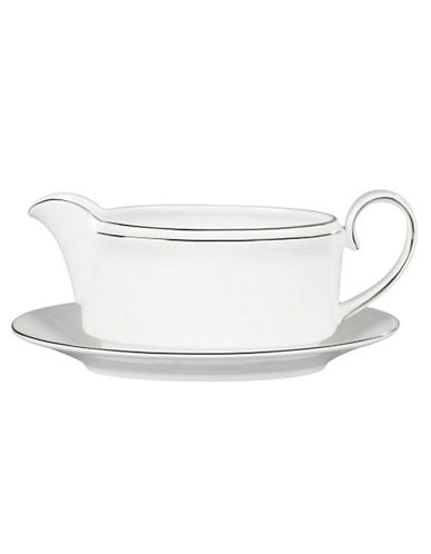 Vera Wang Blanc Sur Blanc Gravy Stand-WHITE WITH PLATINUM TRIM-One Size