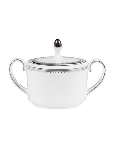 Vera Wang Vera Wang Grosgrain Collection Covered Sugar Bowl-WHITE-One Size