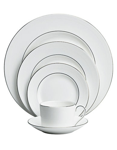Vera Wang Blanc Sur Blanc 5 Piece Place Setting-WHITE-One Size