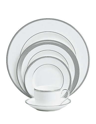 Vera Wang Grosgrain 5 Piece Place Setting-WHITE-One Size