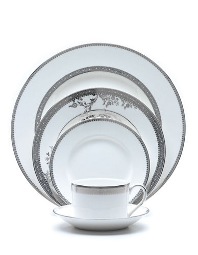 Vera Wang Lace Platinum 5 Piece Place Setting-WHITE-One Size 54968292_WHITE_One Size