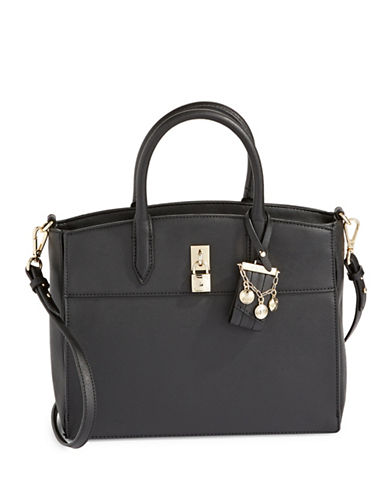 Nine West Textured Top Handle Bag-BLACK-One Size