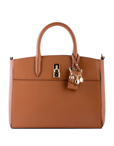 Nine West Blithe Satchel-BROWN-One Size