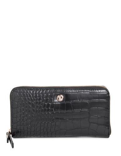 Nine West Aleksei Zip-Around Wallet-BLACK-One Size