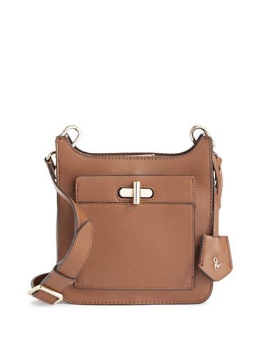 Nine West Turnlock Tote-BROWN-One Size