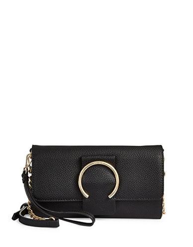 Nine West Deluxe Flap Crossbody Bag-BLACK-One Size