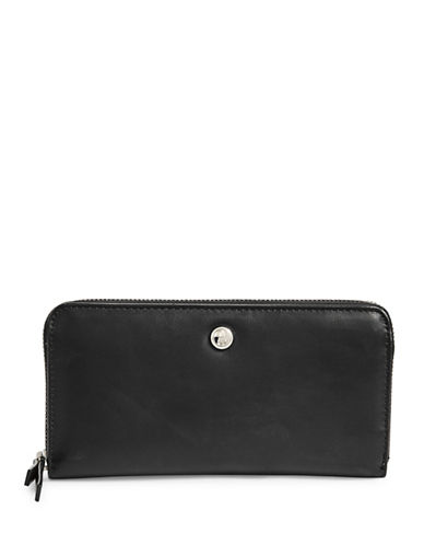 Nine West Zip-Around Clutch-BLACK-One Size