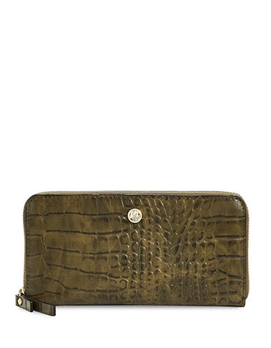 Nine West Zip-Around Wallet-GREEN-One Size