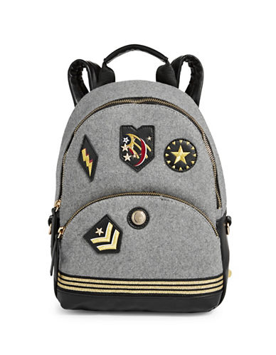 Nine West Taren Backpack-GREY/BLACK-One Size