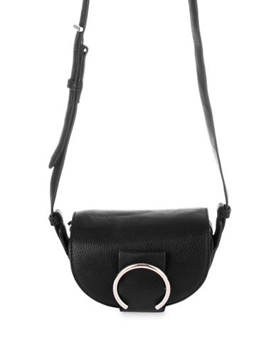 Nine West Vesle Saddle Bag-BLACK-One Size