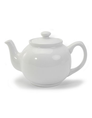 Bia Porcelain Tea Pot-WHITE-One Size