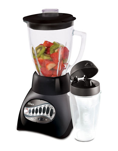 Oster 12-Speed Blender with Blend-N-Go Cup-BRUSHED STAINLESS STEEL-One Size