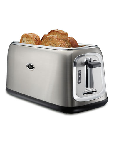 Oster 4-Slice Long-Slot Toaster Stainless Steel-STAINLESS STEEL-One Size