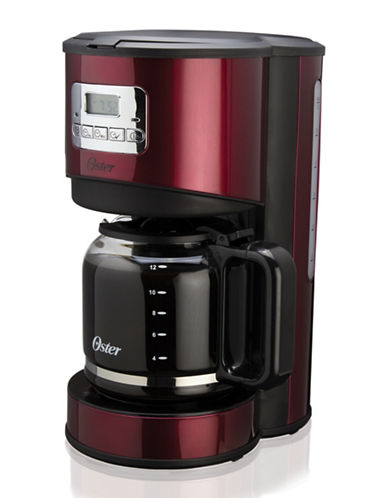 Oster 12-Cup Programmable Coffee Maker-RED-One Size