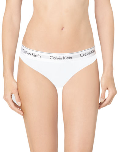 Calvin Klein Modern Cotton Bikini-WHITE-Medium