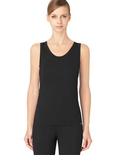 Calvin Klein Modern Cotton Racerback Tank-BLACK-Medium