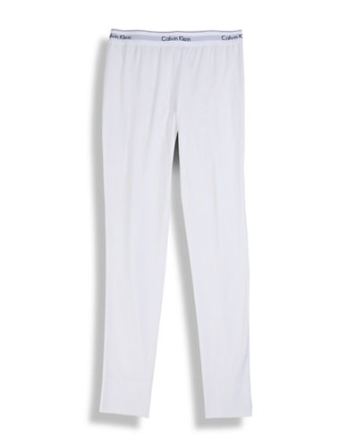 Calvin Klein Modal Cotton Pajama Pants-WHITE-Small