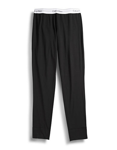 Calvin Klein Modal Cotton Pajama Pants-BLACK-Large 86825239_BLACK_Large