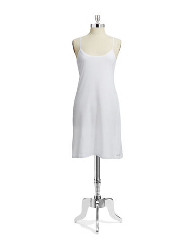 Calvin Klein Modern Cotton Nightshirt-WHITE-Medium