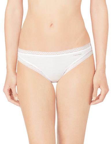 Calvin Klein Flourish Bikini-WHITE-Large