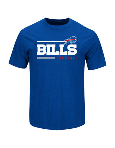 Majestic NFL Buffalo Bills Line of Scrimmage  T-Shirt-BLUE-Large