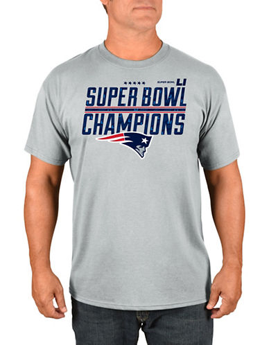 Majestic New England Patriots Super Bowl Champions Time Tee-GREY-Medium
