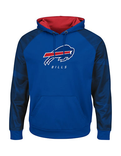 Majestic NFL Buffalo Bills Amor II Synthetic Hoodie-ROYAL BLUE-X-Large