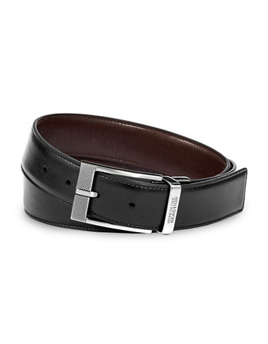 Kenneth Cole Reaction Calf Grain Belt-BLACK/BROWN-34