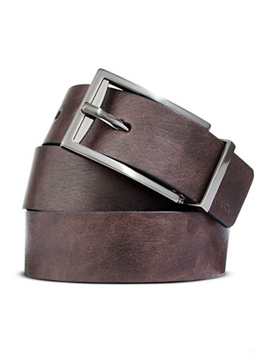 Kenneth Cole Reaction Buckle Belt-BROWN-38