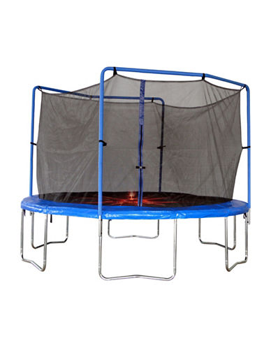 Trainor Sports 13-Foot Flash Zone Trampoline and Enclosure Combo Set-BLUE-One Size