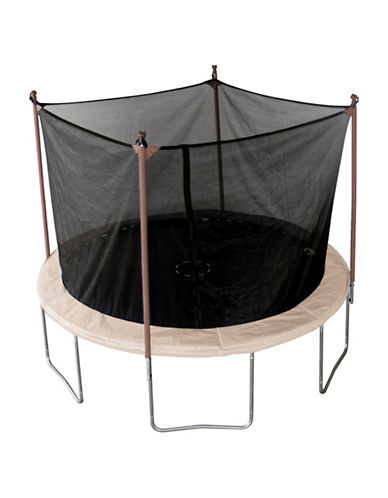 Trainor Sports 11-Foot Trampoline and Enclosure Combo Set-BEIGE-One Size