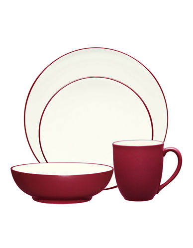 Noritake Colorwave 4 Piece Place Setting-RASPBERRY AND WHITE-One Size
