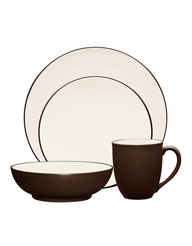 Noritake Colorwave 4 Piece Place Setting-BROWN-One Size