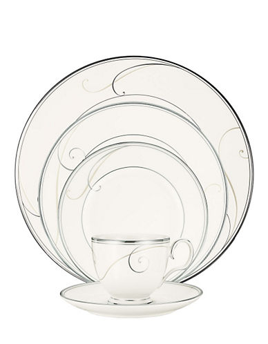 Noritake Platinum Wave 5 Piece Place Setting-WHITE-One Size