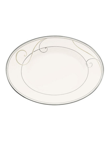 Noritake Platinum Wave Oval Platter  Medium-WHITE-One Size