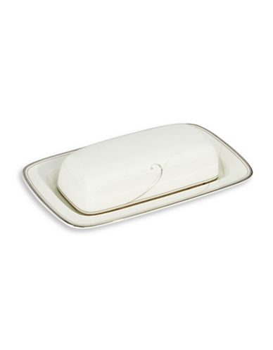 Noritake Platinum Wave Butter Tray-WHITE-One Size