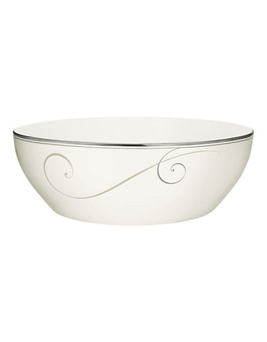 Noritake Platinum Wave Round Vegetable-WHITE-One Size