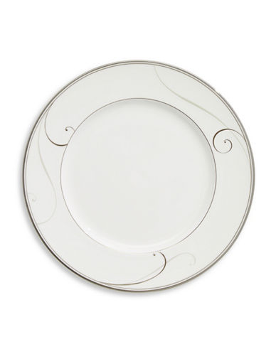 Noritake Platinum Wave Formal Dinner Plate-WHITE-One Size