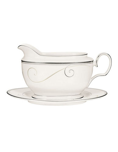 Noritake Platinum Wave Gravy with Tray-MULTI-COLOURED-One Size