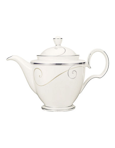 Noritake Platinum Wave Coffee Tea Server-WHITE-One Size