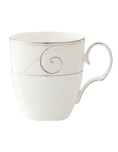 Noritake Platinum Wave Mug-WHITE-One Size