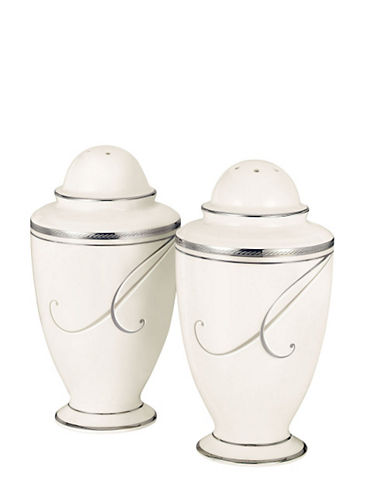 Noritake Platinum Wave Salt and Pepper-MULTI-COLOURED-One Size