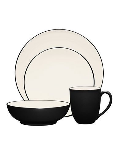 Noritake Colorwave 4 Piece Place Setting-DARK GREY-One Size