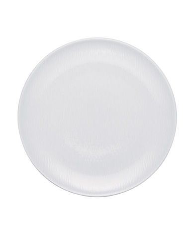 Noritake Wow Wave Dinner Plate-WHITE ON WHITE-One Size