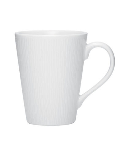 Noritake Wow Wave Mug 12 Oz-WHITE ON WHITE-One Size